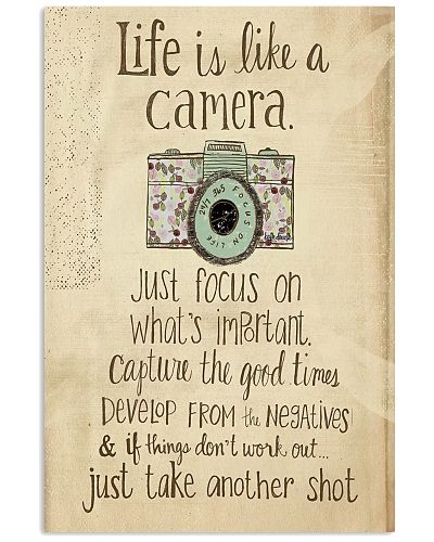 Life like a camera Vertical Poster YTA8