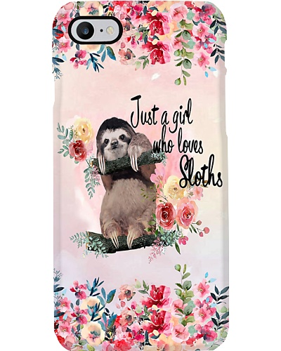 Just A Girl Who Loves Sloths H12T4