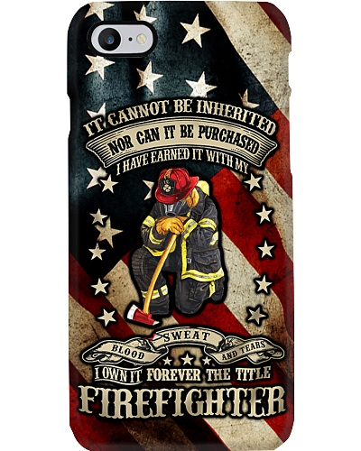 Firefighter Forever Title Phone Case QE25
