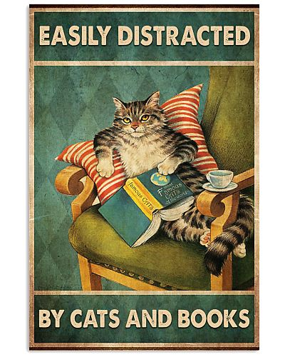 Distracted By Cats And Books Vertical Poster YLT8