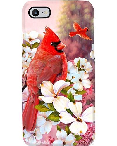 Cardinal Bird White Flowers Phone Case YHG6