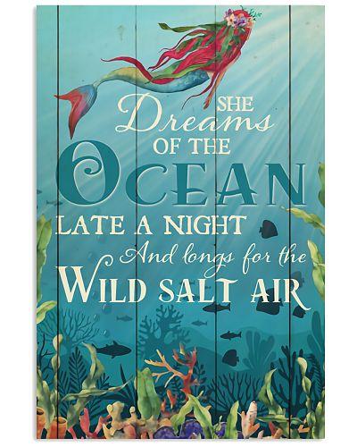 Mermaid Ocean Dream Vertical Poster YKH4