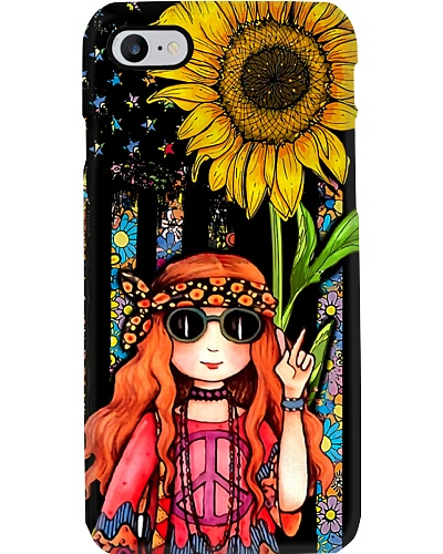 Hippie Girl Sunflower Phone Case CH03