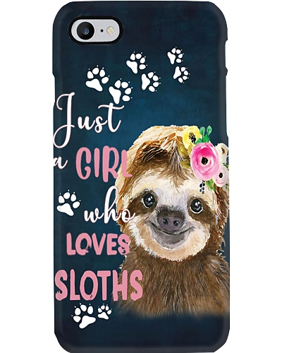Just A Girl Who Loves Sloth Phone Case YTP0