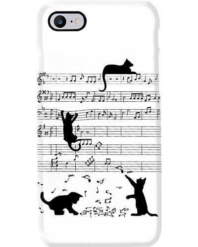 Cat With Music Phone Case YTH0