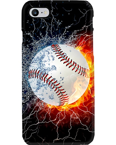 Water Fire Baseball Phone Case CH03