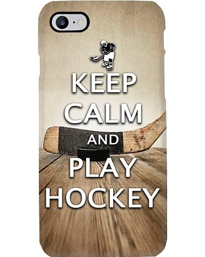 Keep Calm n Play Hockey Phone Case QE25