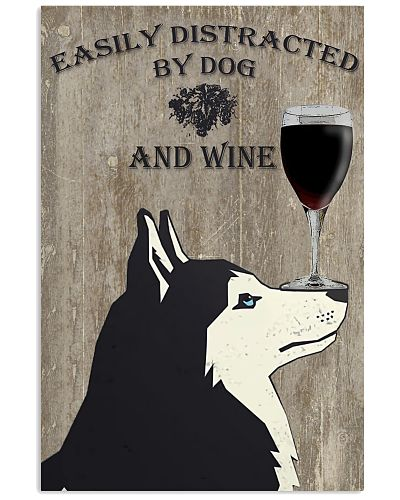 Husky And Wine Vertical Poster YSC6