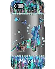 Dachshund n Butterfly Personalized Phone Case HU29 Phone Case i-phone-8-case