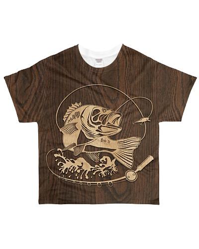 Bass Fishing Dark Woodgrain YHG6