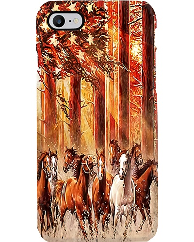 Horses In the Forest Phone Case YHA1