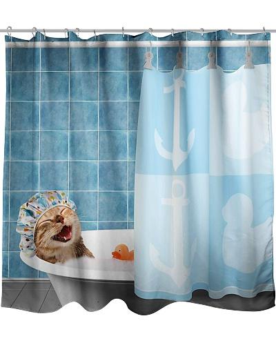 Cat Taking A Bath Shower Curtain YHG6