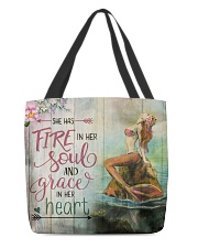 Mermaid - She Has Fire L09F2 All-over Tote back