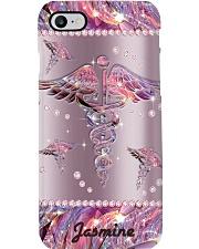 Nurse Phone Case Personalized Sparkle Nurse YMH1 Phone Case i-phone-8-case