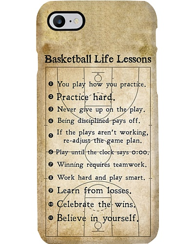 Basketball Life Lessons Phone Case CH03