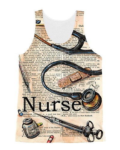 Nurse Scrapbook Tank Top QE25