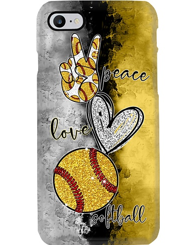 Peace Love Softball Phone Case YPM0