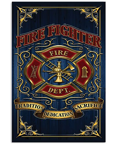 Fire Fighter Logo Vertical Poster YHP1