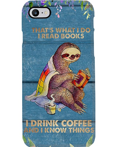 Reading and Coffee Addicted Phone Case YCA1