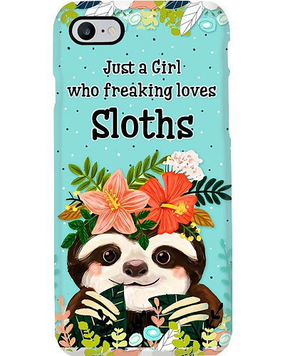 Just A Girl Who Freaking Loves Sloth H22N8