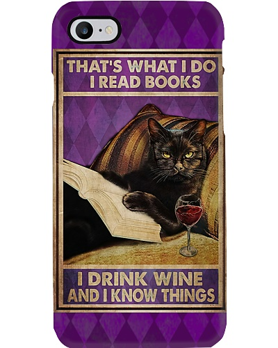 I Read Books And Drink Wine Phone Case YLT8