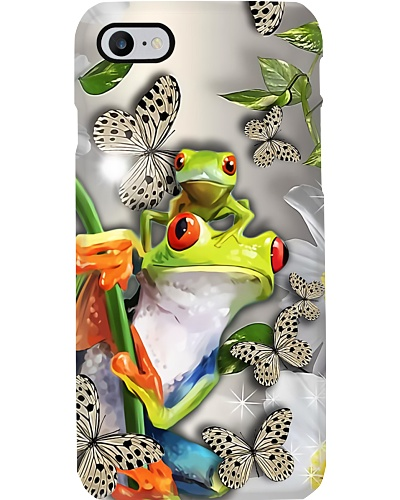 Beautiful Frogs With Butterflies Phone Case Q22A2