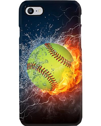 Fire Water Softball Phone Case YHN2