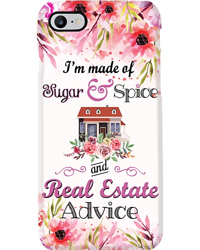 I Am Made Of Real Estate Advice Phone Case Q22A2