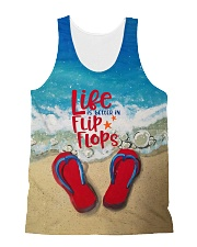 Red Flip Flop Tank Top QE25 All-over Unisex Tank front