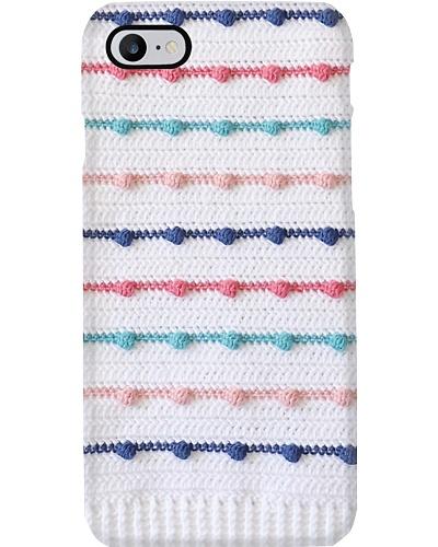Crochet Bobble Lines Phone Case YHG6