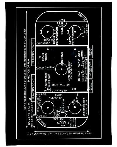 Vintage Ice Hockey Rink V99H9