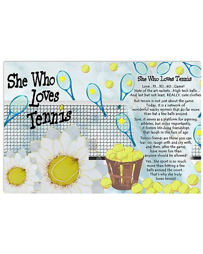 She Who Loves Tennis Horizontal Poster YCT8