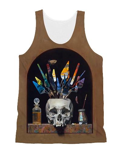 Painting Skull Tank Top QE25