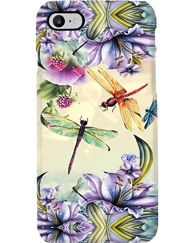 Purple Flower Dragonfly Phone Case YVY9