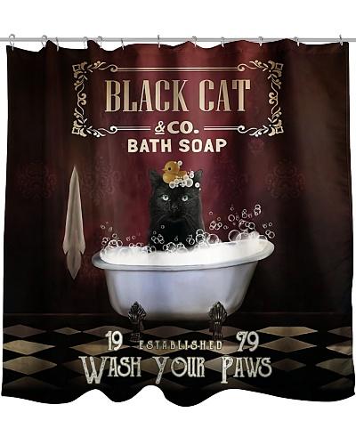 Black Cat Shower Curtain YTP0