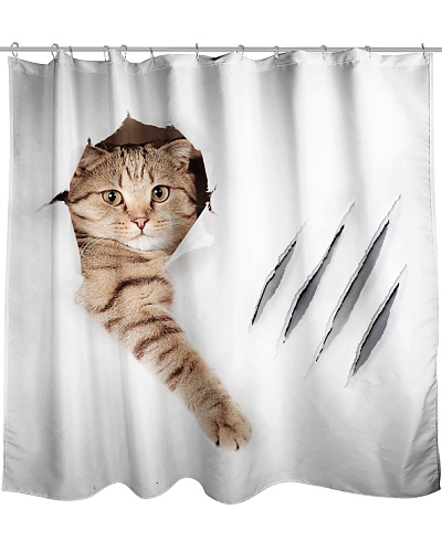 Cat Claw Shower Curtain YHG6