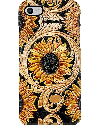 Leather Sunflowers Phone Case QE25