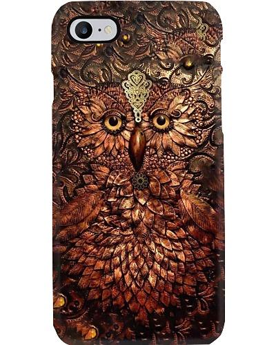 Leather Owl Of Wisdom Phone Case YTM6
