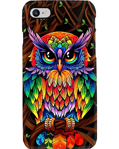 Colorful Owl Phone Case CH03
