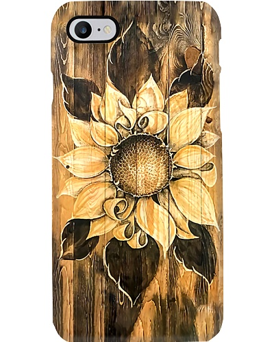 Wooden Sunflower Phone Case YHL3