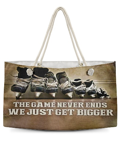 The Game Never Ends Hockey Gift H22N8