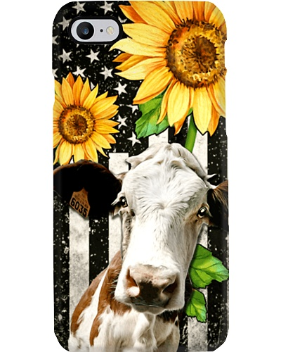 Sunflower Cow Phone Case YPM0