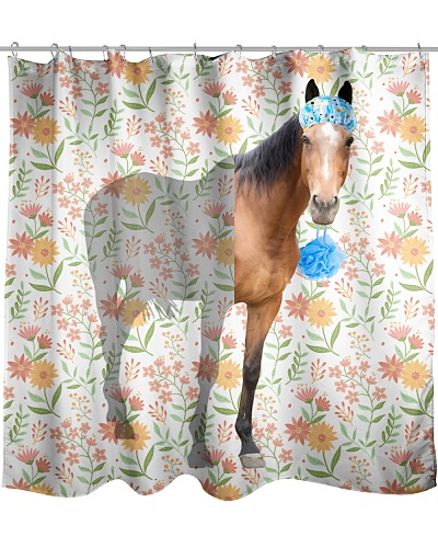Horse Shower Curtain LA99
