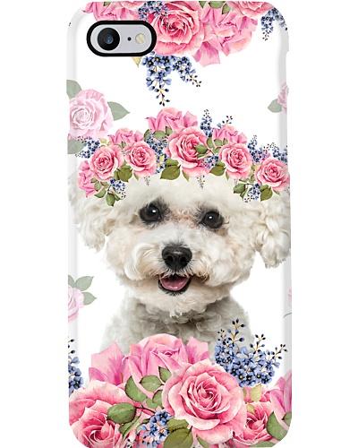 Floral Bichon Frise Phone Case YQD7