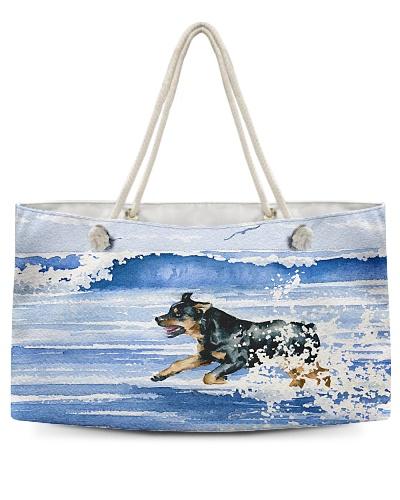 Rottweiler Having Fun At The Beach H22N8