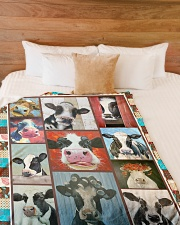 "Crazy Cows V99H9 Large Fleece Blanket - 60"" x 80"" aos-coral-fleece-blanket-60x80-lifestyle-front-02"