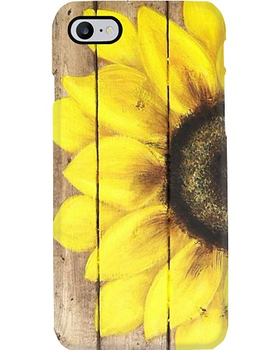 Half Of Sunflower Phone Case YHA1