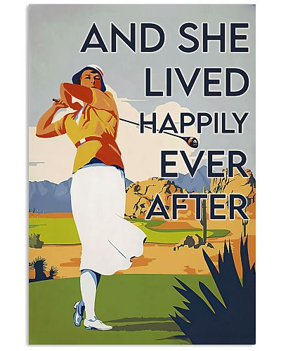 Golf Happily Ever After Vertical Poster YHL3