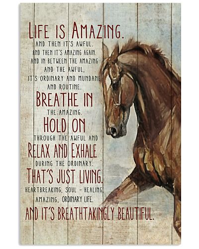 Horse Life Is Amazing Vertical Poster CH03