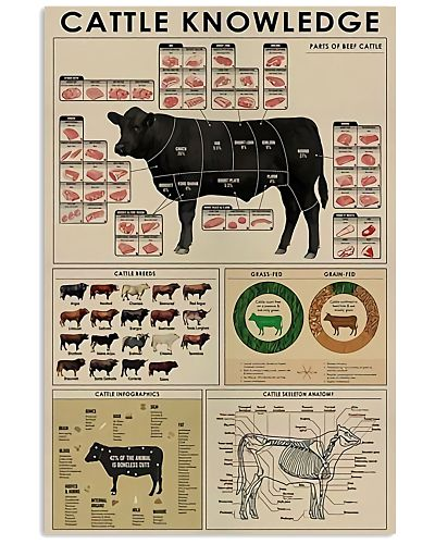 Cattle Knowledge Vertical Poster YAD9